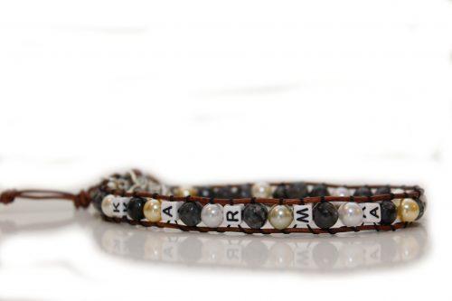 Doppel Perlenlederband