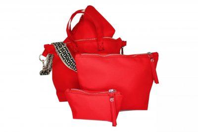 Rot mit Taschen Ordner